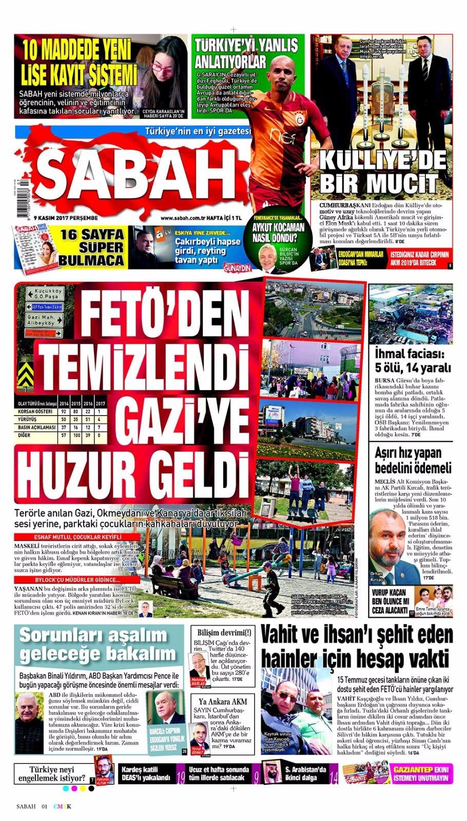 Basında bugün kim ne manşet attı? 9 kasım günün gazete manşetleri 10