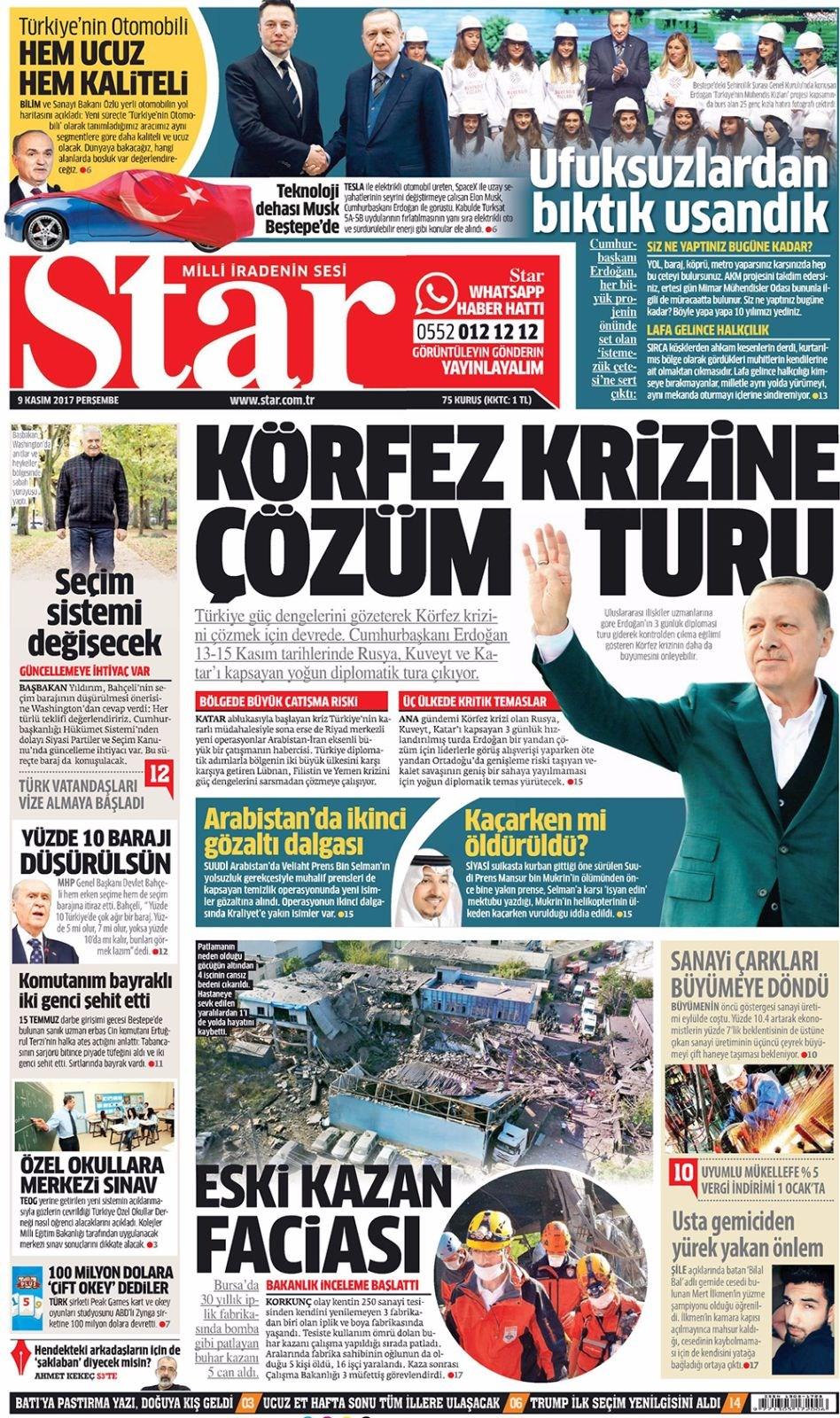 Basında bugün kim ne manşet attı? 9 kasım günün gazete manşetleri 11