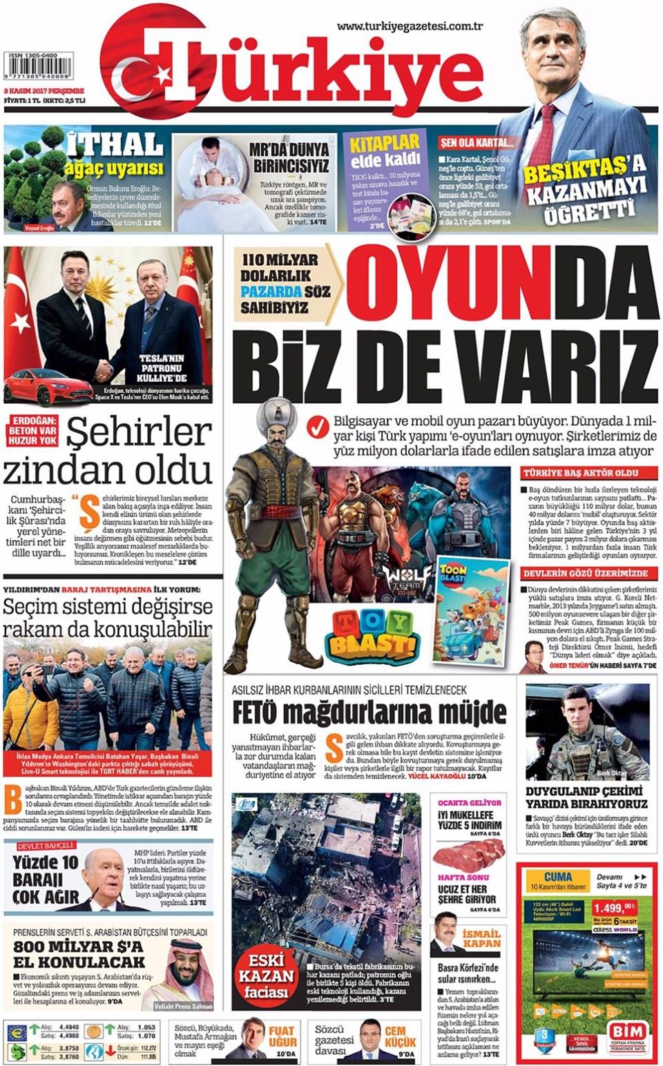 Basında bugün kim ne manşet attı? 9 kasım günün gazete manşetleri 13