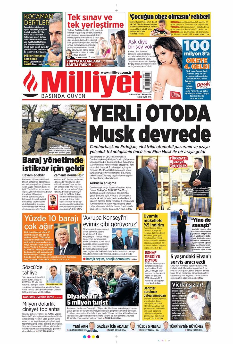 Basında bugün kim ne manşet attı? 9 kasım günün gazete manşetleri 14