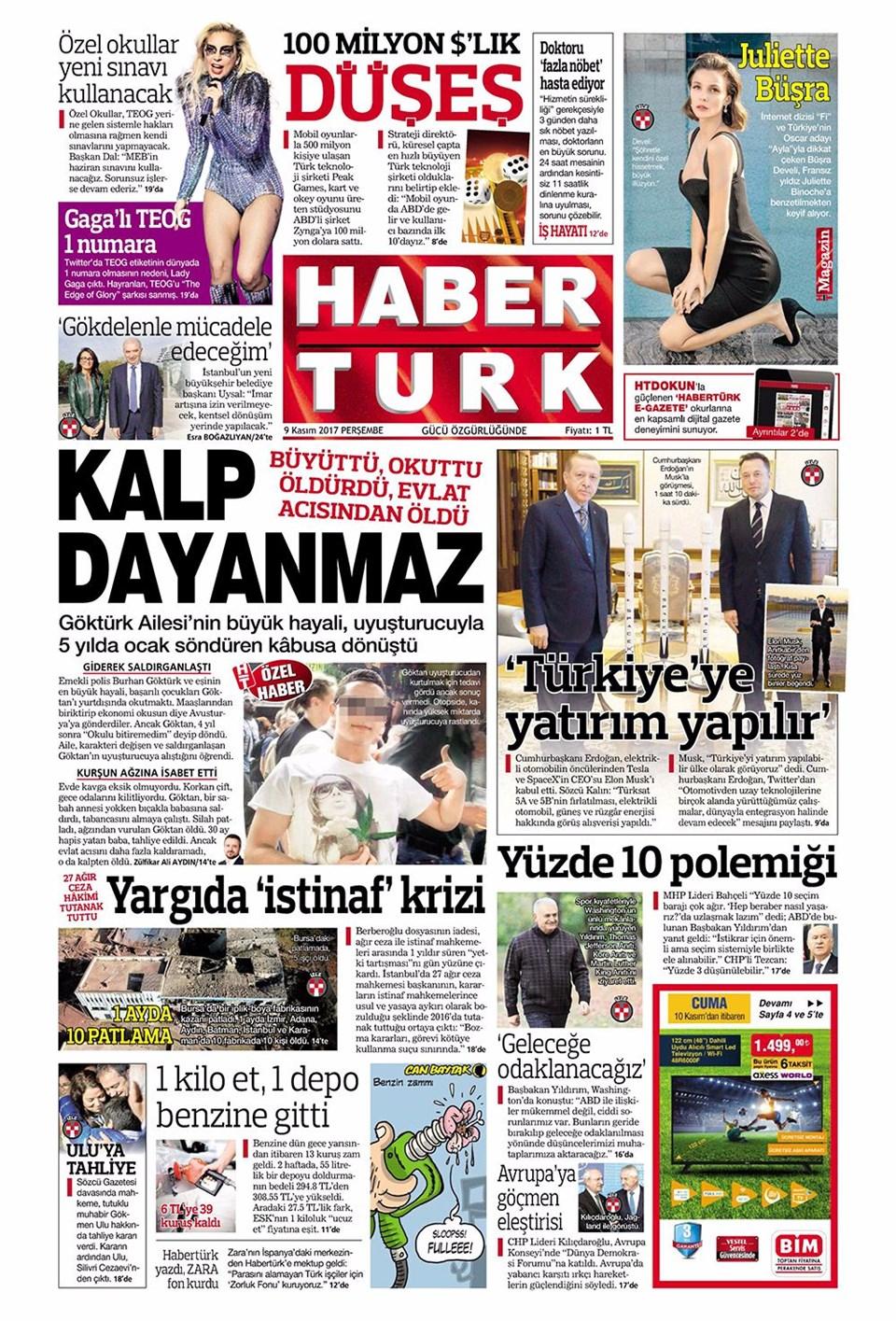 Basında bugün kim ne manşet attı? 9 kasım günün gazete manşetleri 15