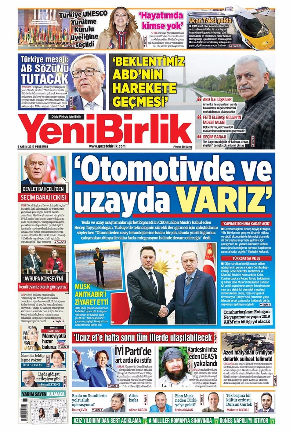 Basında bugün kim ne manşet attı? 9 kasım günün gazete manşetleri 3