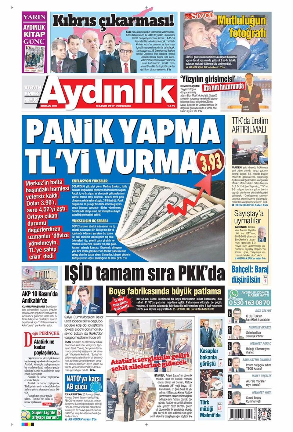 Basında bugün kim ne manşet attı? 9 kasım günün gazete manşetleri 7