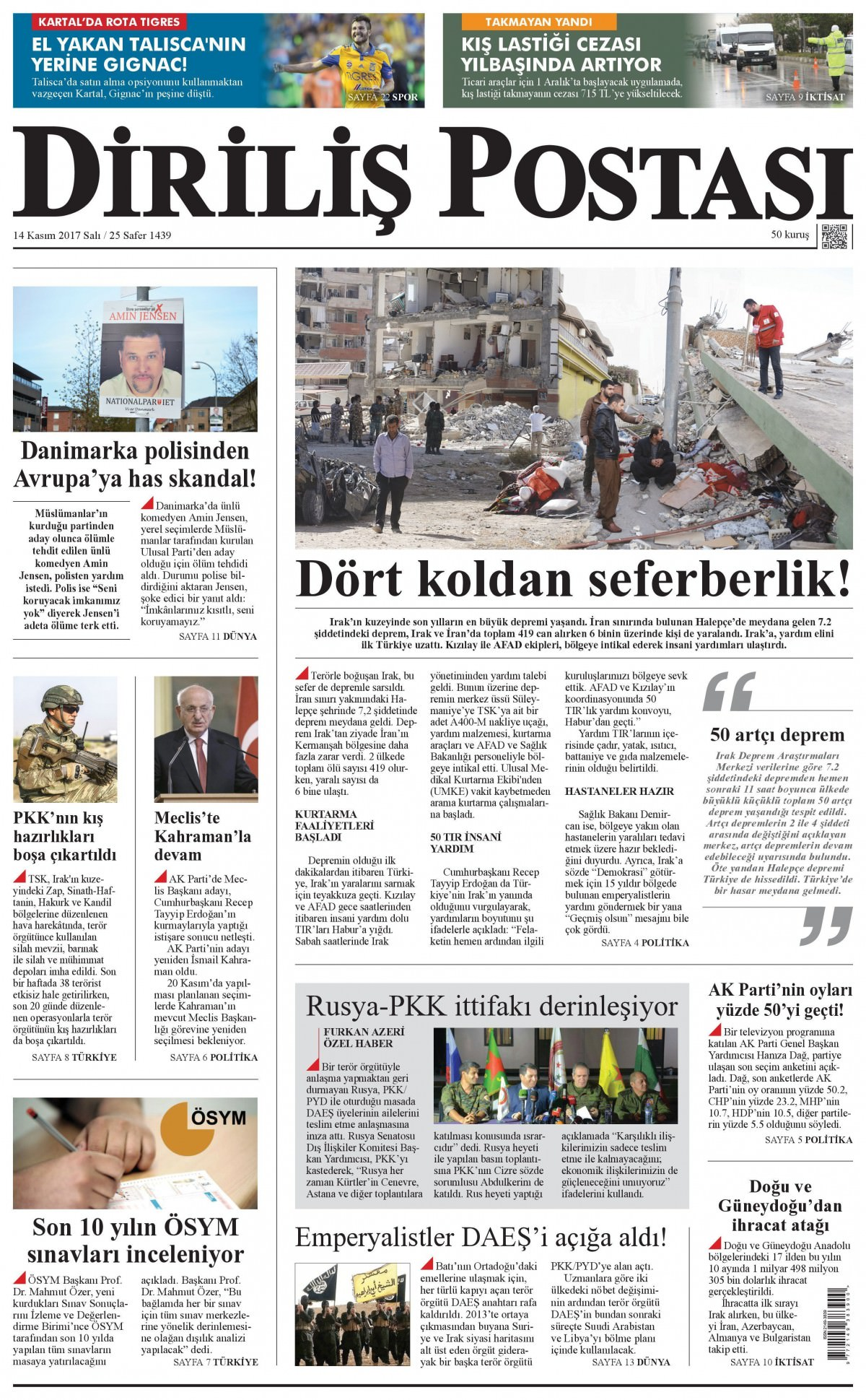 Günün gazete manşetleri! (3 Kasım 2017) 15
