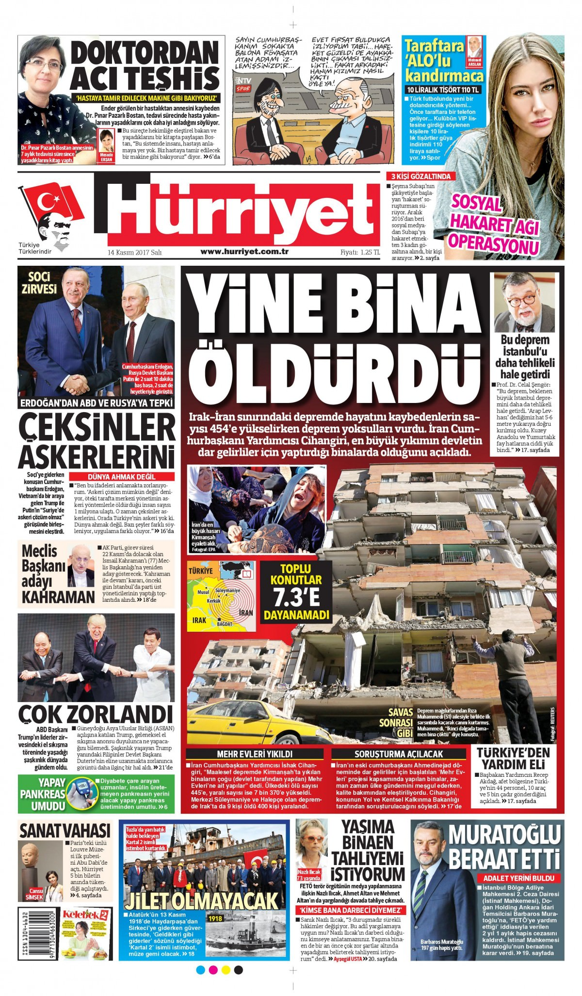 Günün gazete manşetleri! (3 Kasım 2017) 5