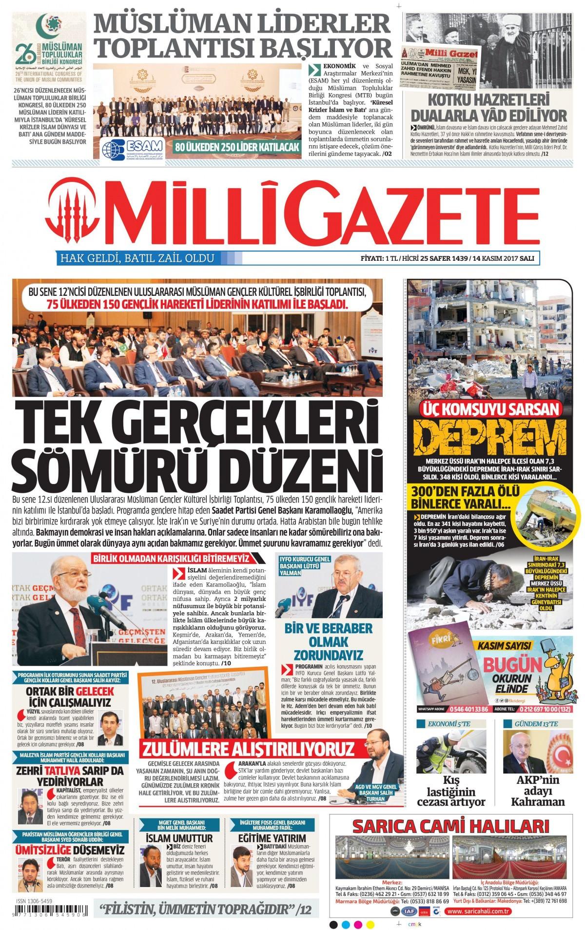 Günün gazete manşetleri! (3 Kasım 2017) 7