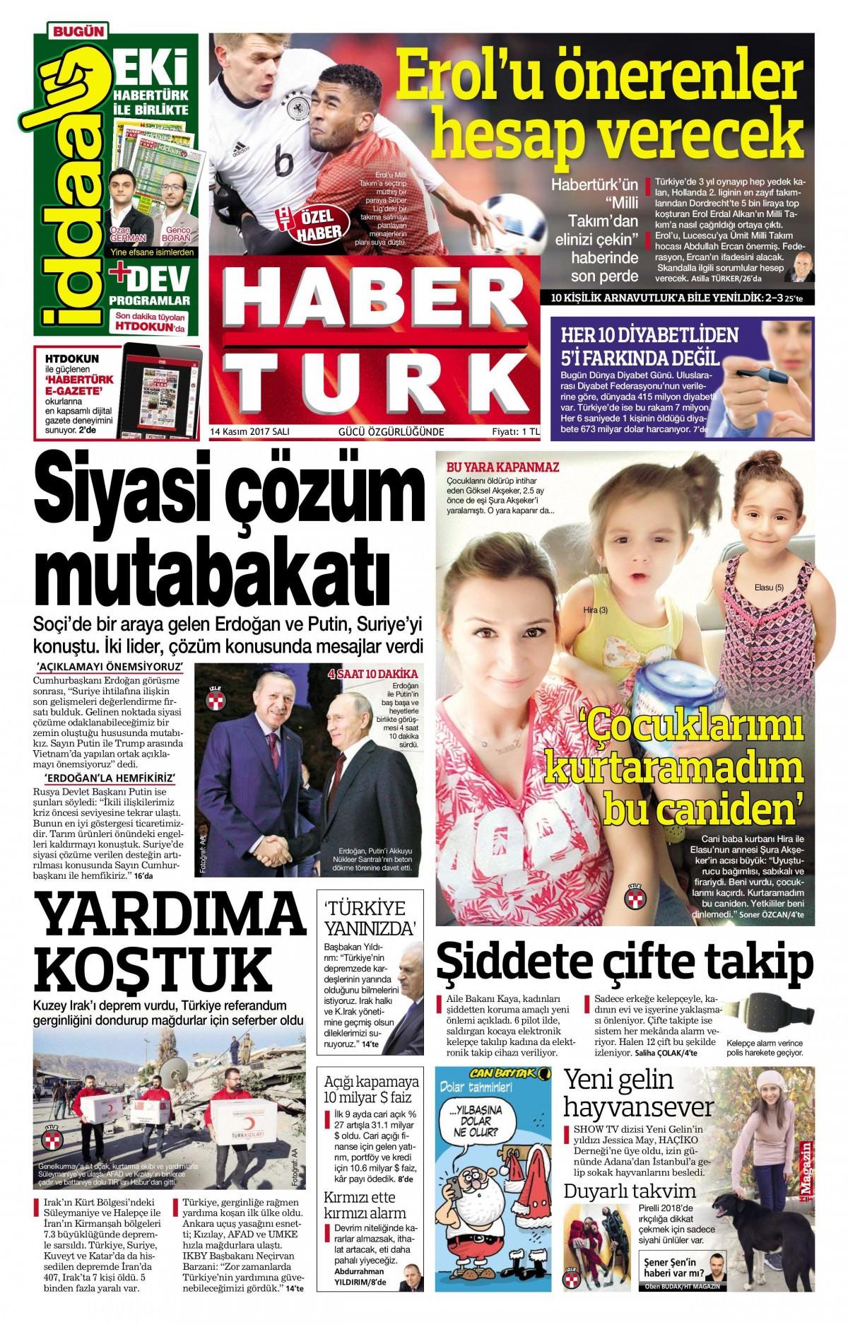 Günün gazete manşetleri! (3 Kasım 2017) 9