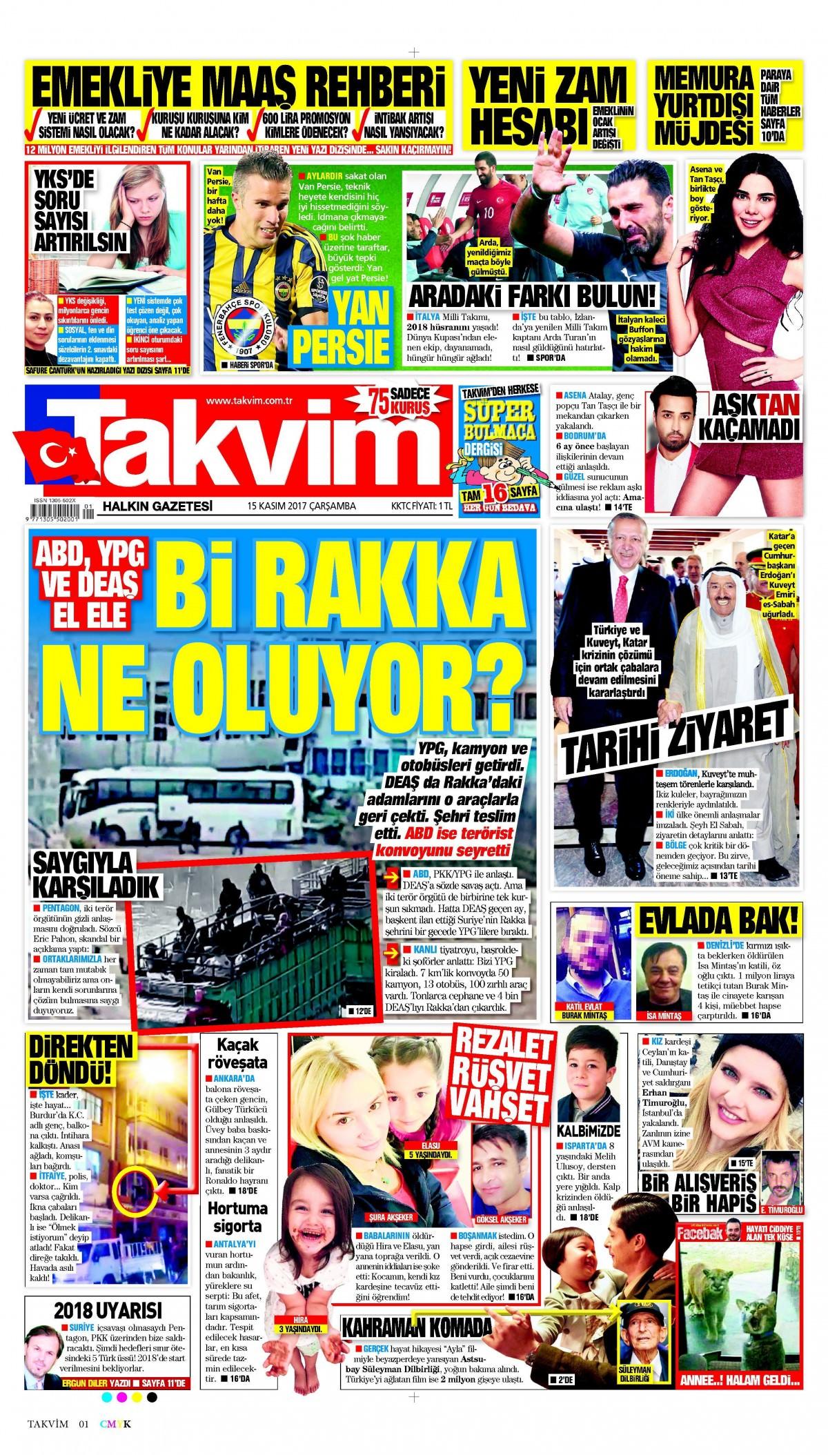 Günün gazete manşetleri (15 Kasım 2017) 7