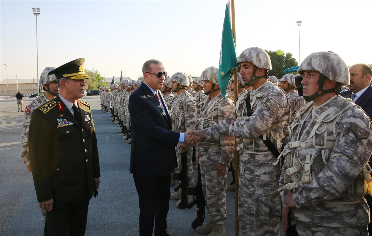 Erdoğan Katar'da Türk birliğini ziyaret etti 10