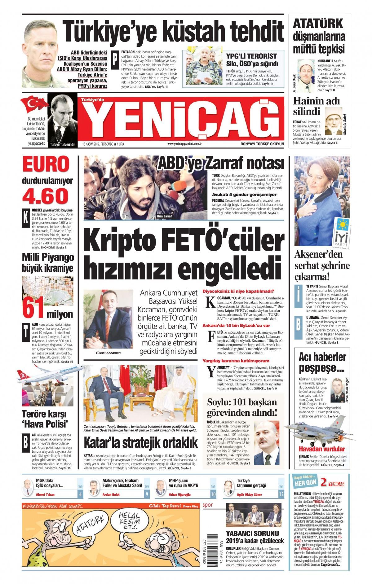 Günün gazete manşetleri (16 Kasım 2017) 17