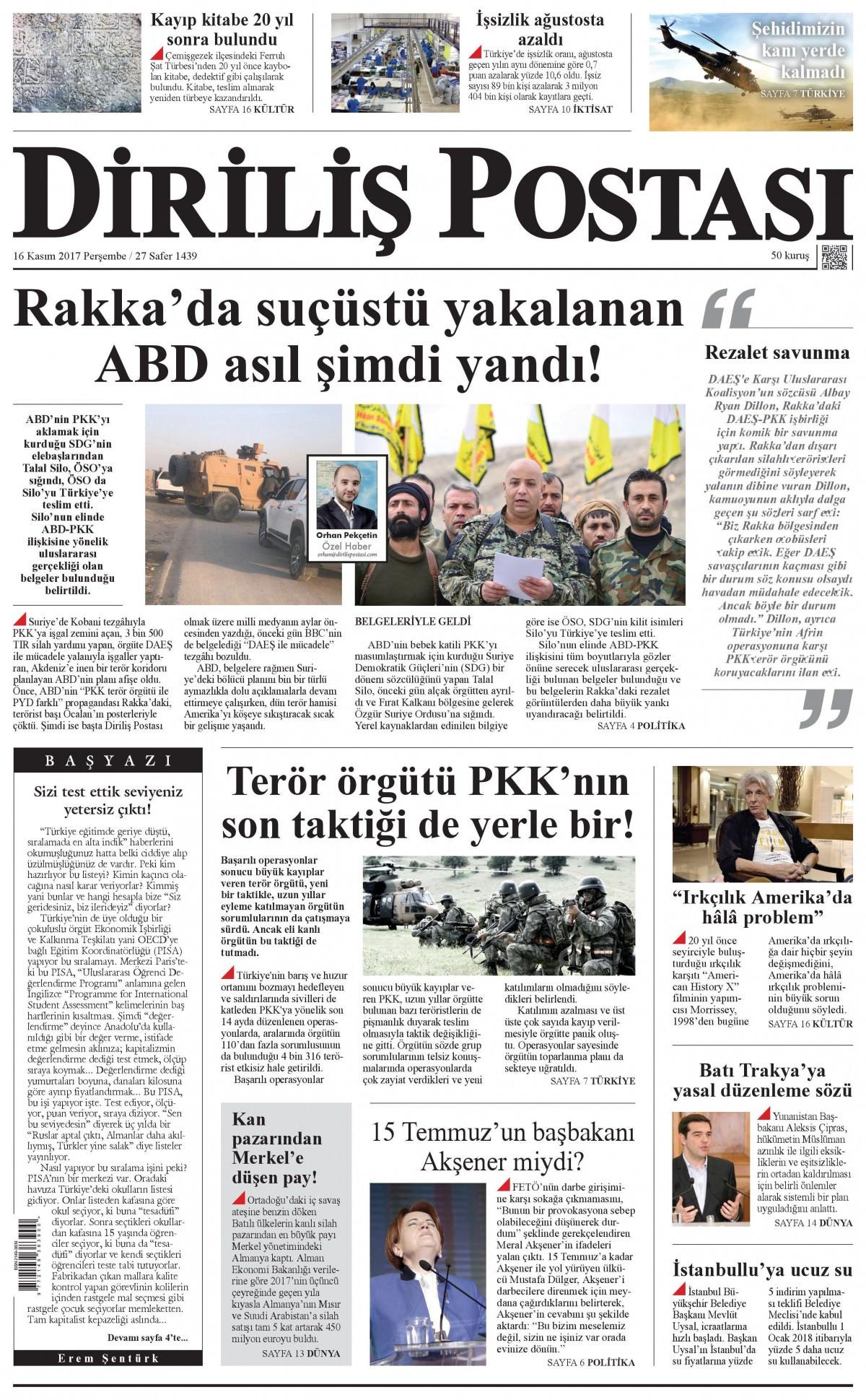 Günün gazete manşetleri (16 Kasım 2017) 18
