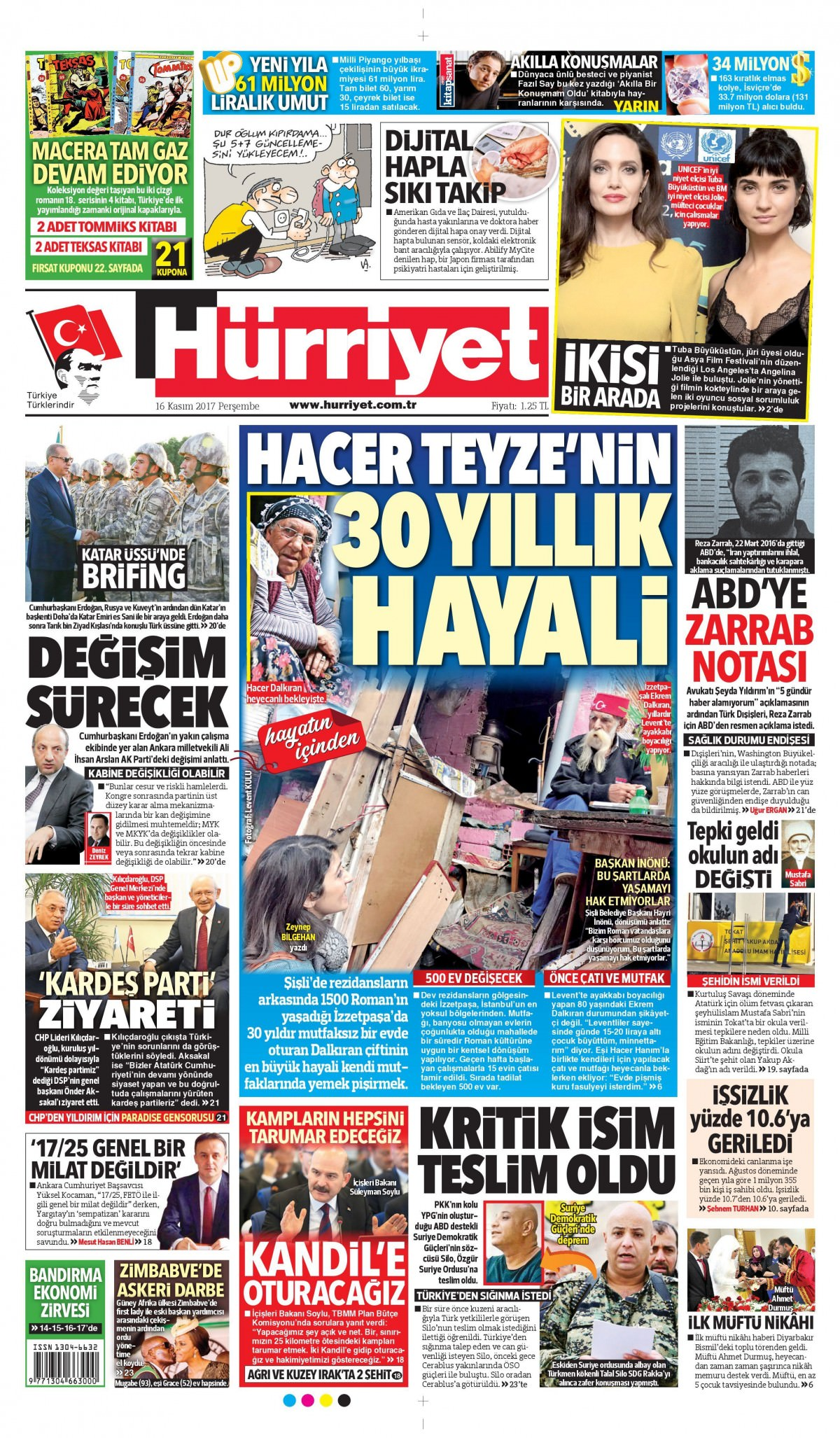 Günün gazete manşetleri (16 Kasım 2017) 4