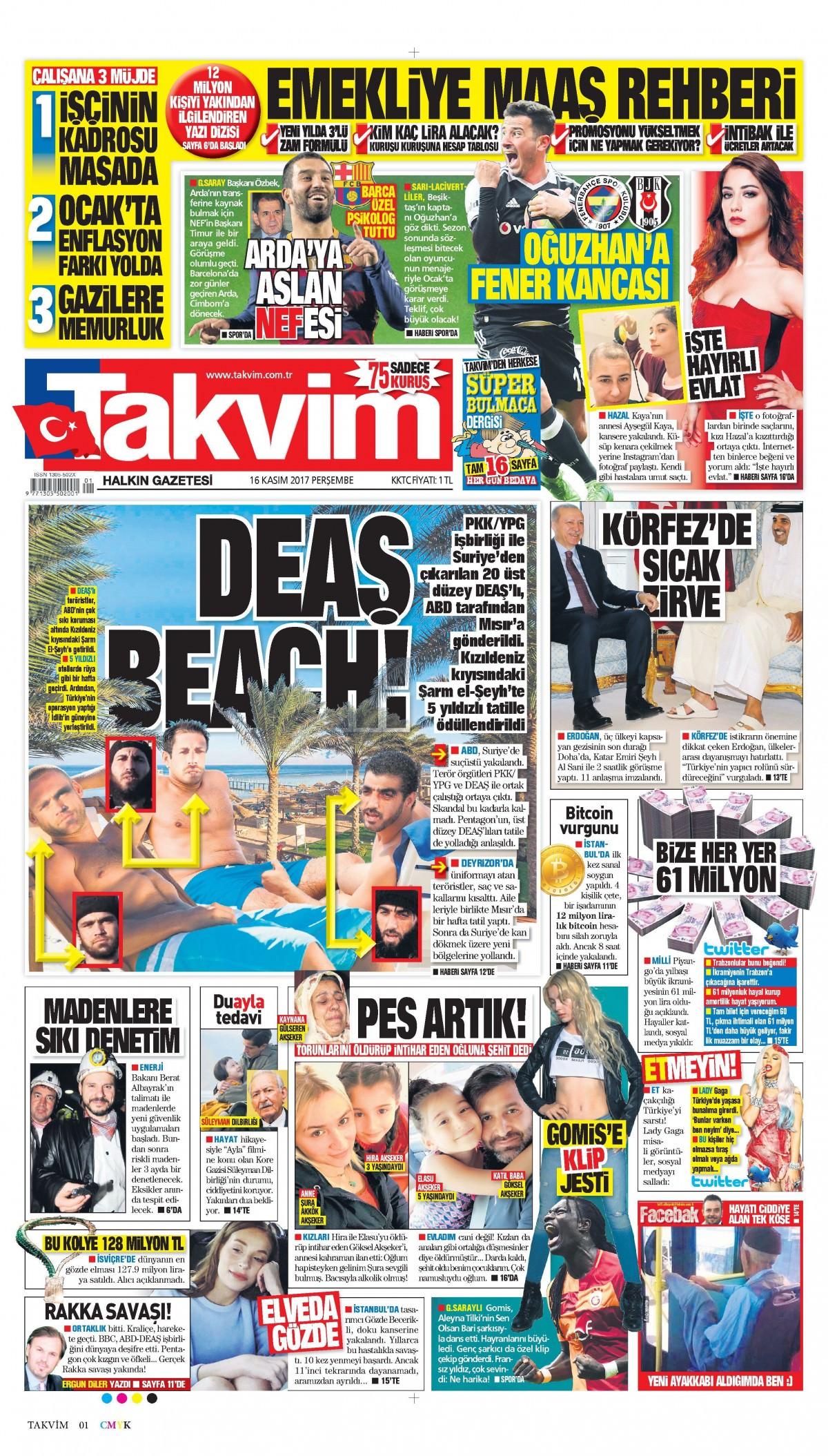 Günün gazete manşetleri (16 Kasım 2017) 5
