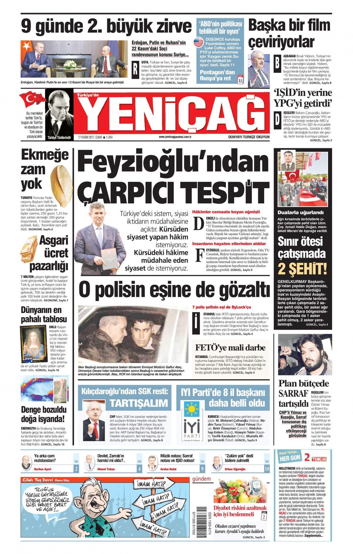 Gazeteler hangi manşetleri attı! (17 Kasım 2017) 16