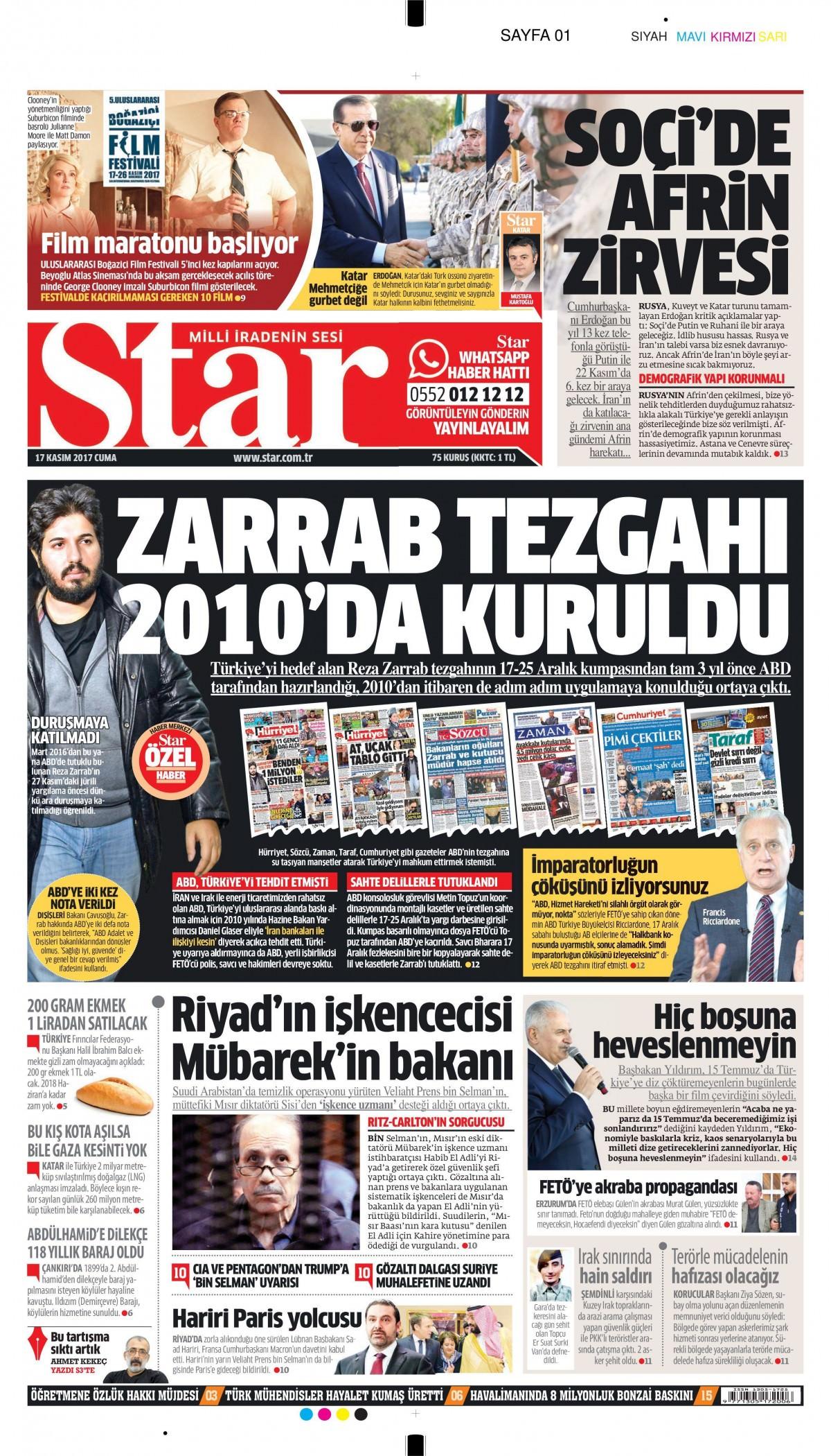 Gazeteler hangi manşetleri attı! (17 Kasım 2017) 19