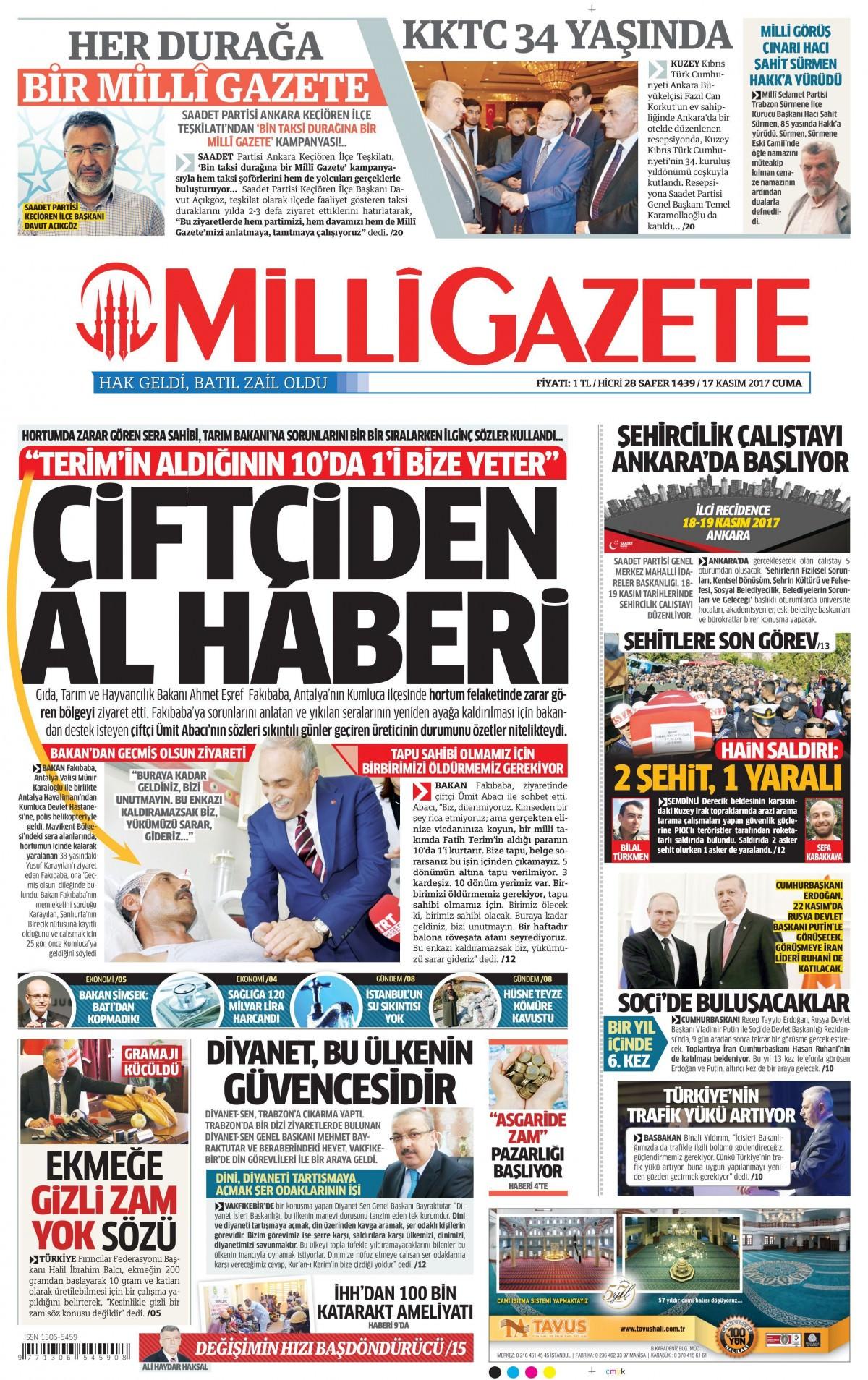 Gazeteler hangi manşetleri attı! (17 Kasım 2017) 6