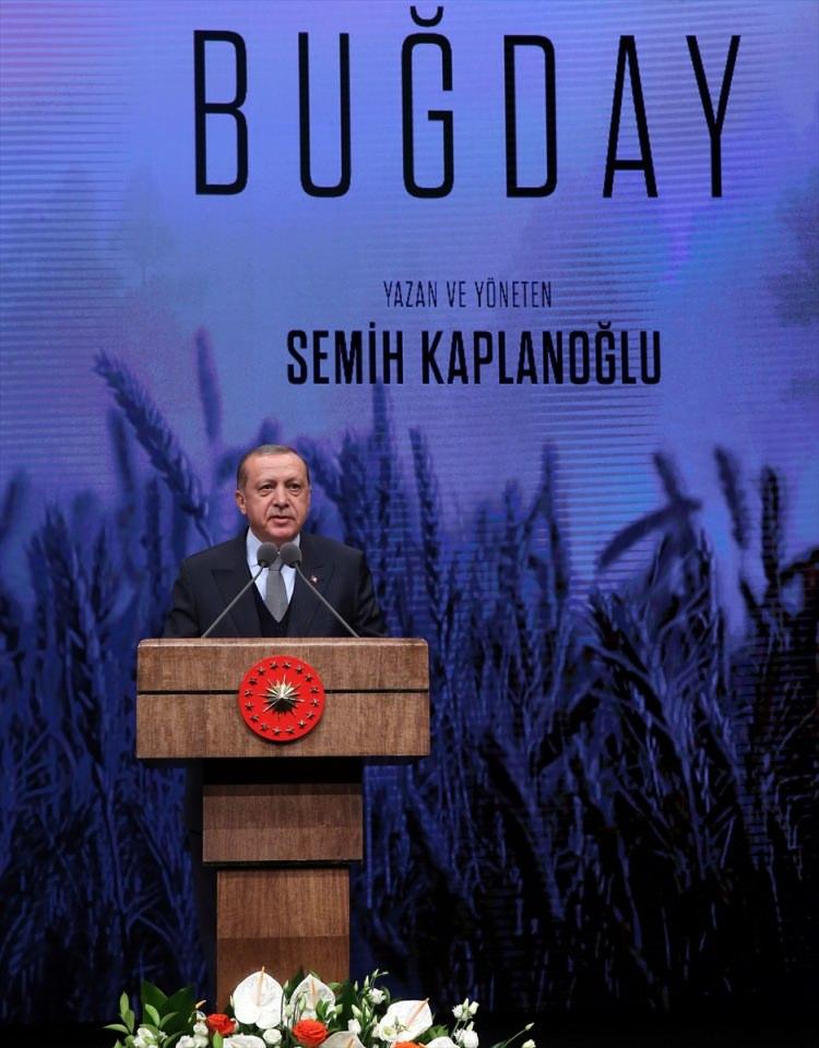 Cumhurbaşkanı Erdoğan Buğday filminin galasına ev sahipliği yaptı 1