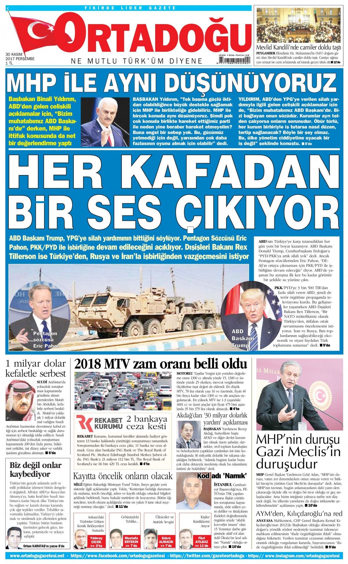 Gazeteler bugün hangi manşeti attı 15