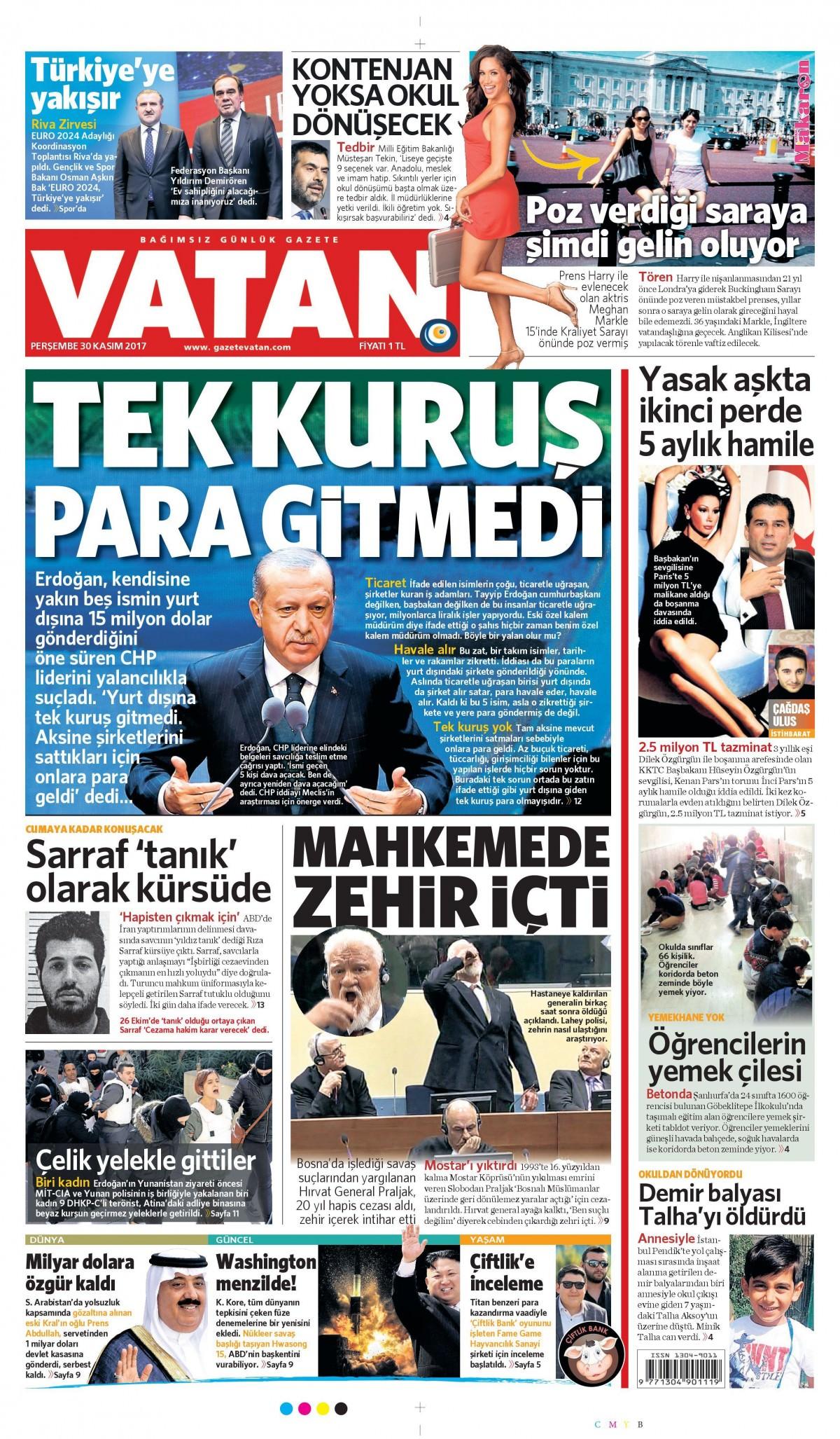 Gazeteler bugün hangi manşeti attı 2