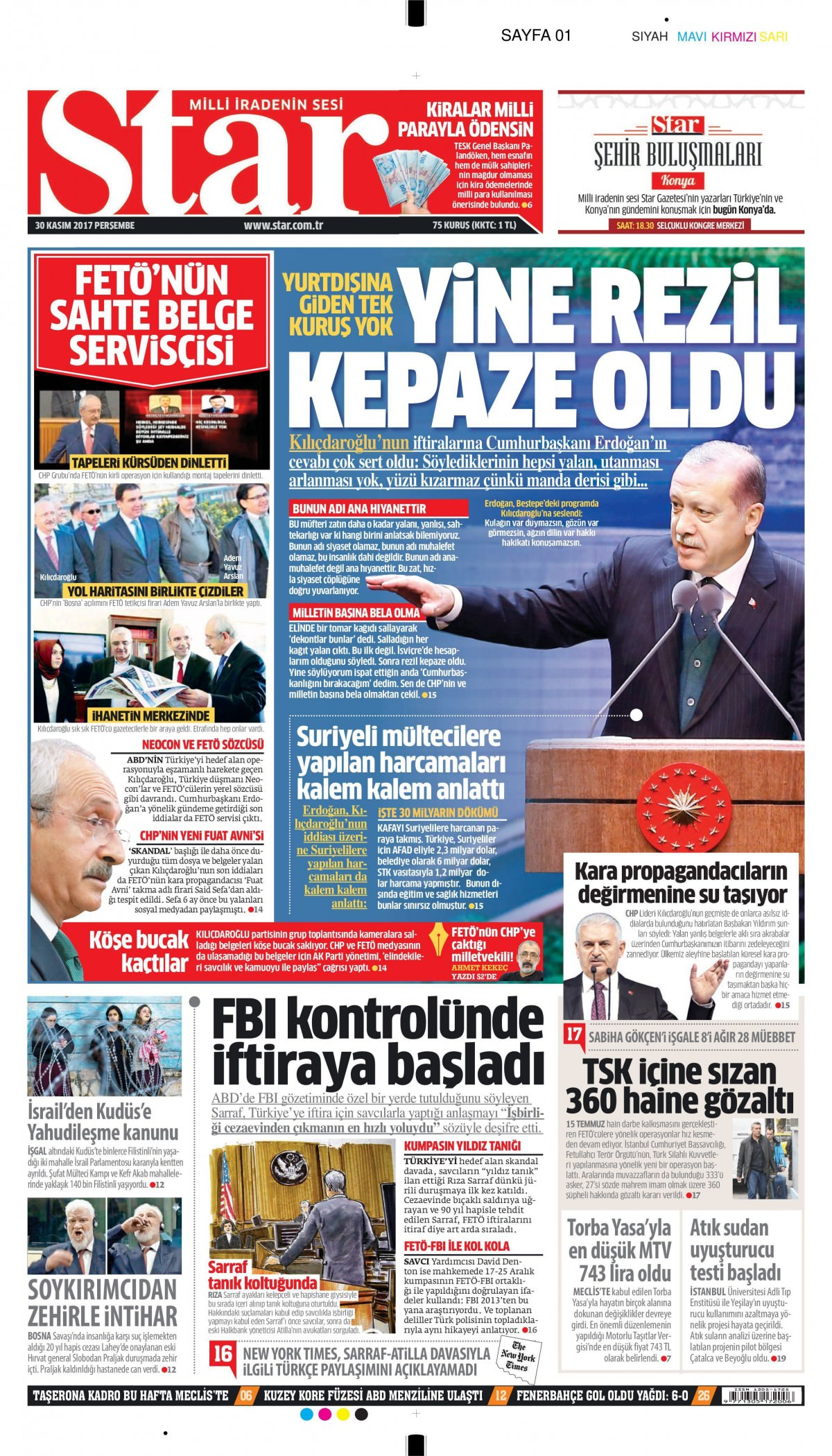 Gazeteler bugün hangi manşeti attı 20