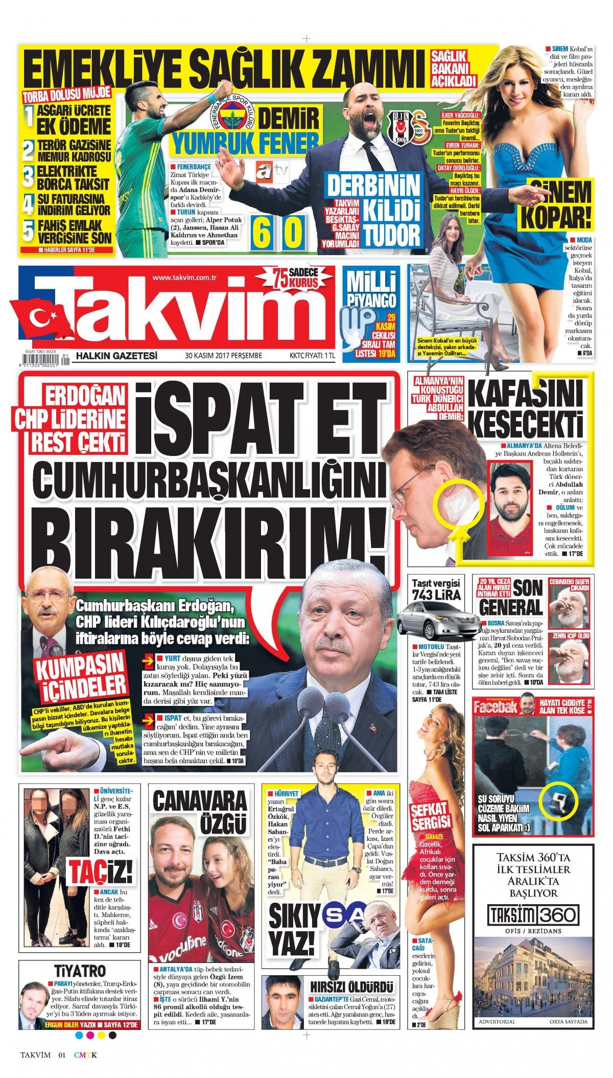 Gazeteler bugün hangi manşeti attı 9