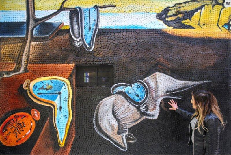 Van'da atıklardan sanat eserleri sokakları süslüyor 2