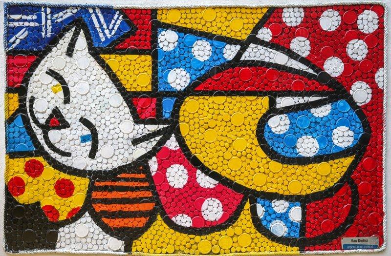 Van'da atıklardan sanat eserleri sokakları süslüyor 5