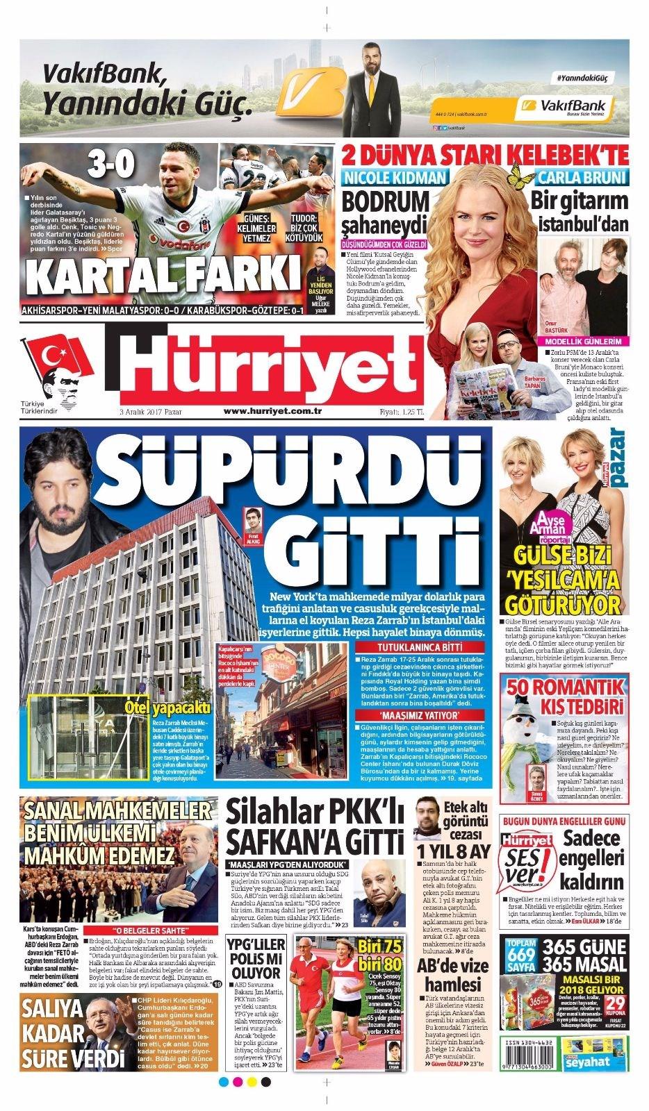 Günün gazete manşetleri 18