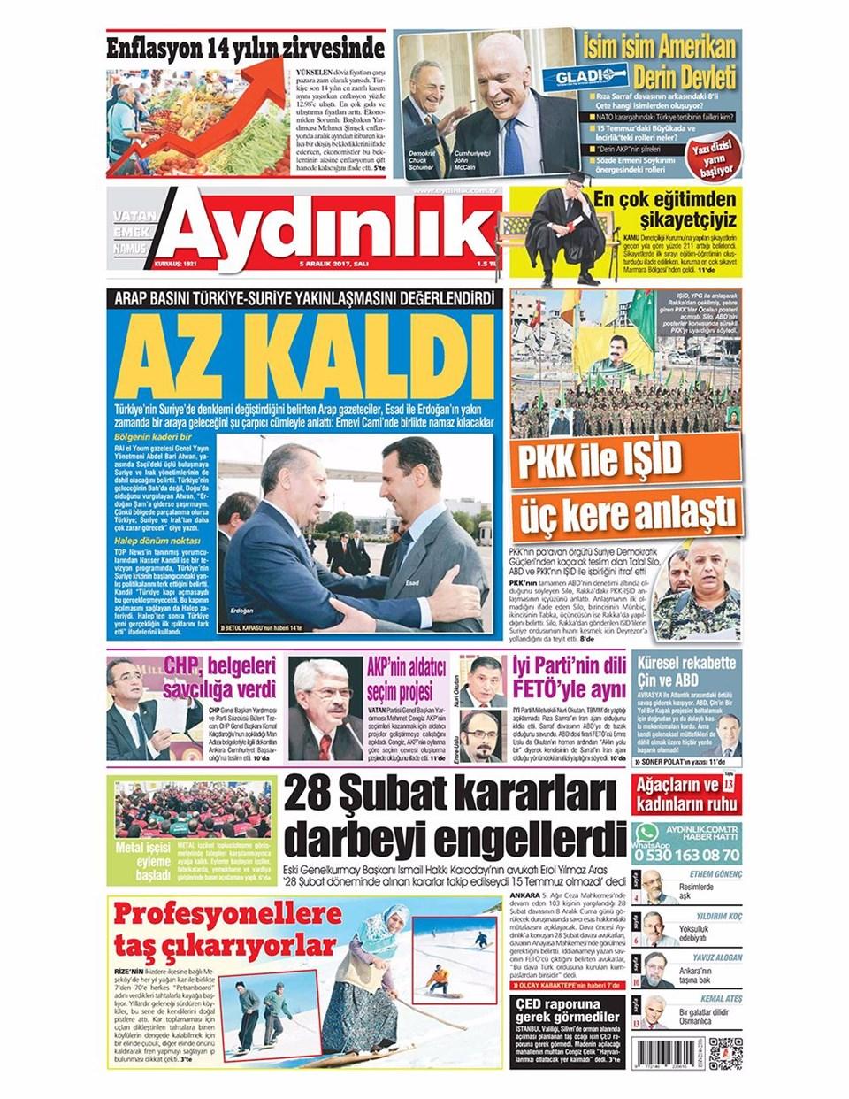 Günün gazete manşetleri 13