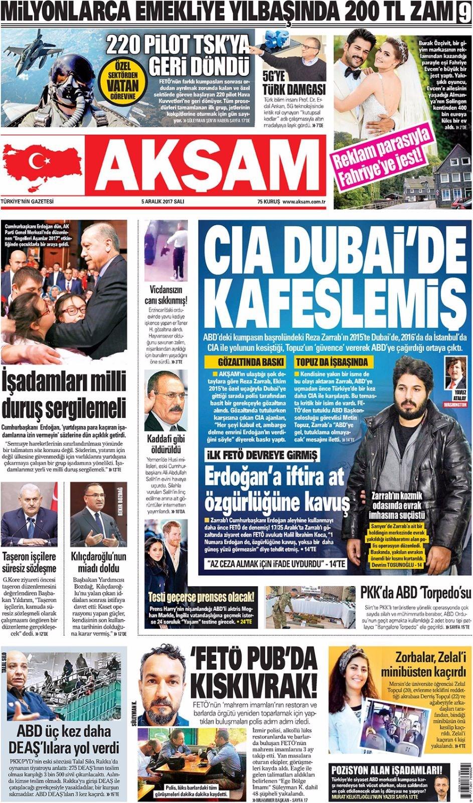 Günün gazete manşetleri 14