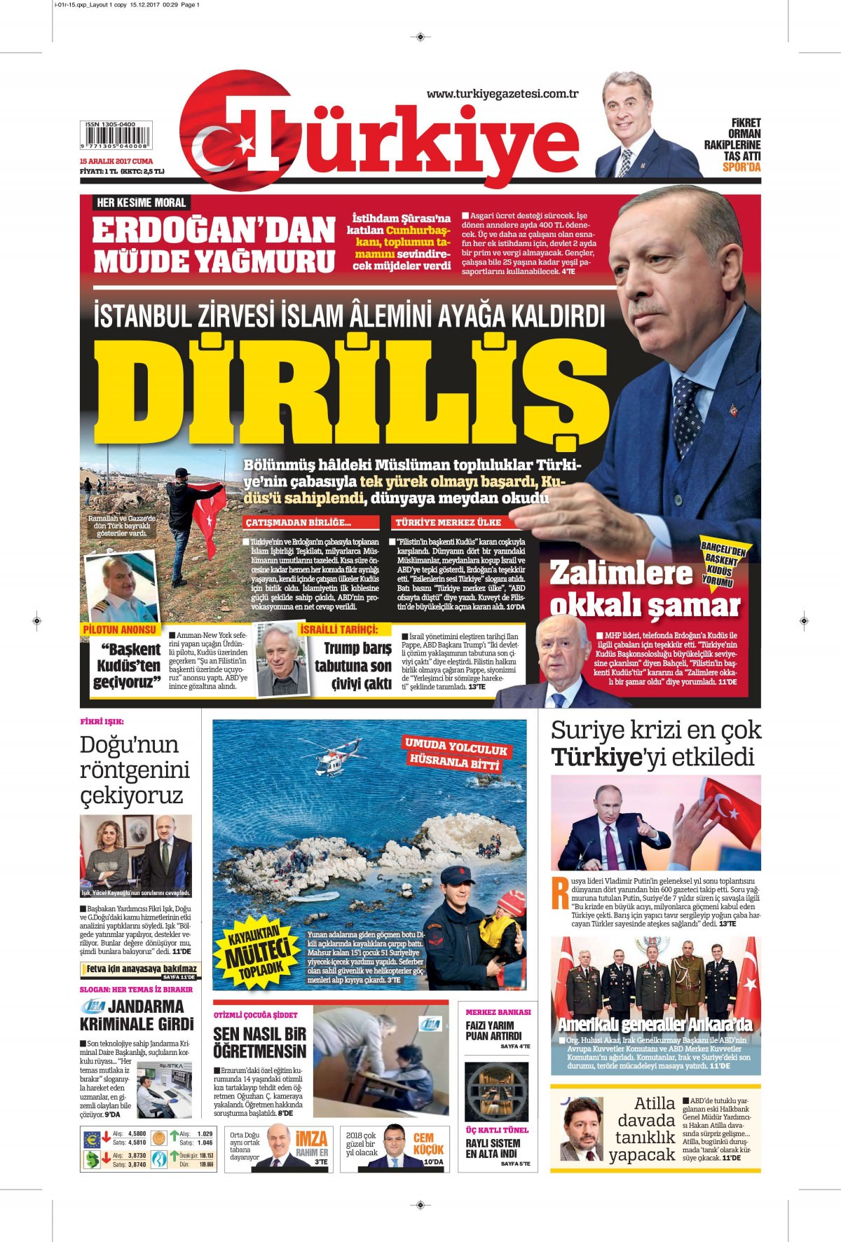 Günün gazete manşetleri 3