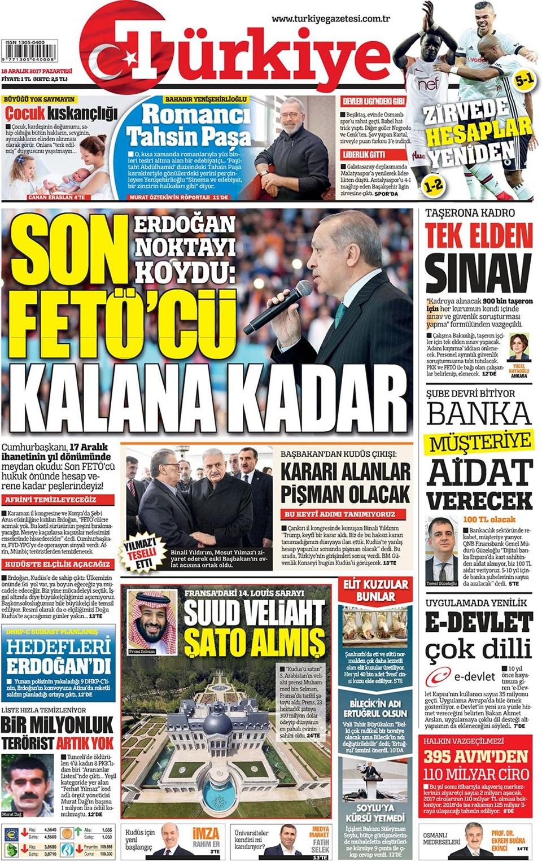 Günün gazete manşetleri 5