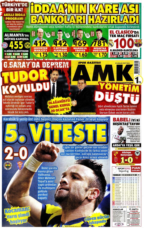 Günün gazete manşetleri 20