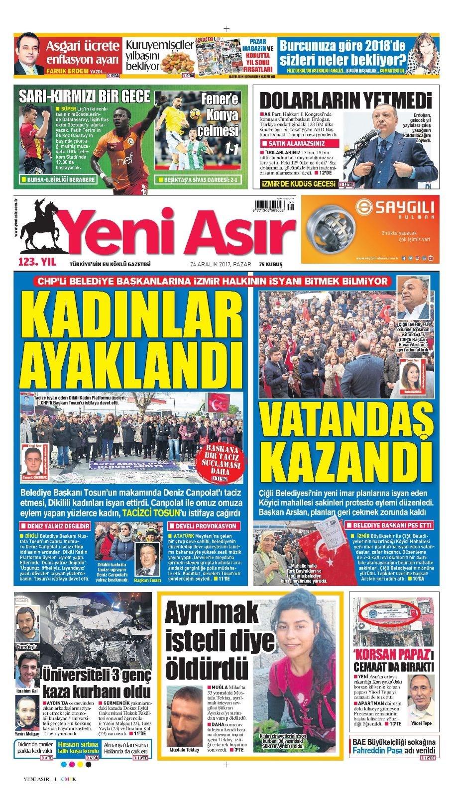 Günün gazete manşetleri 17