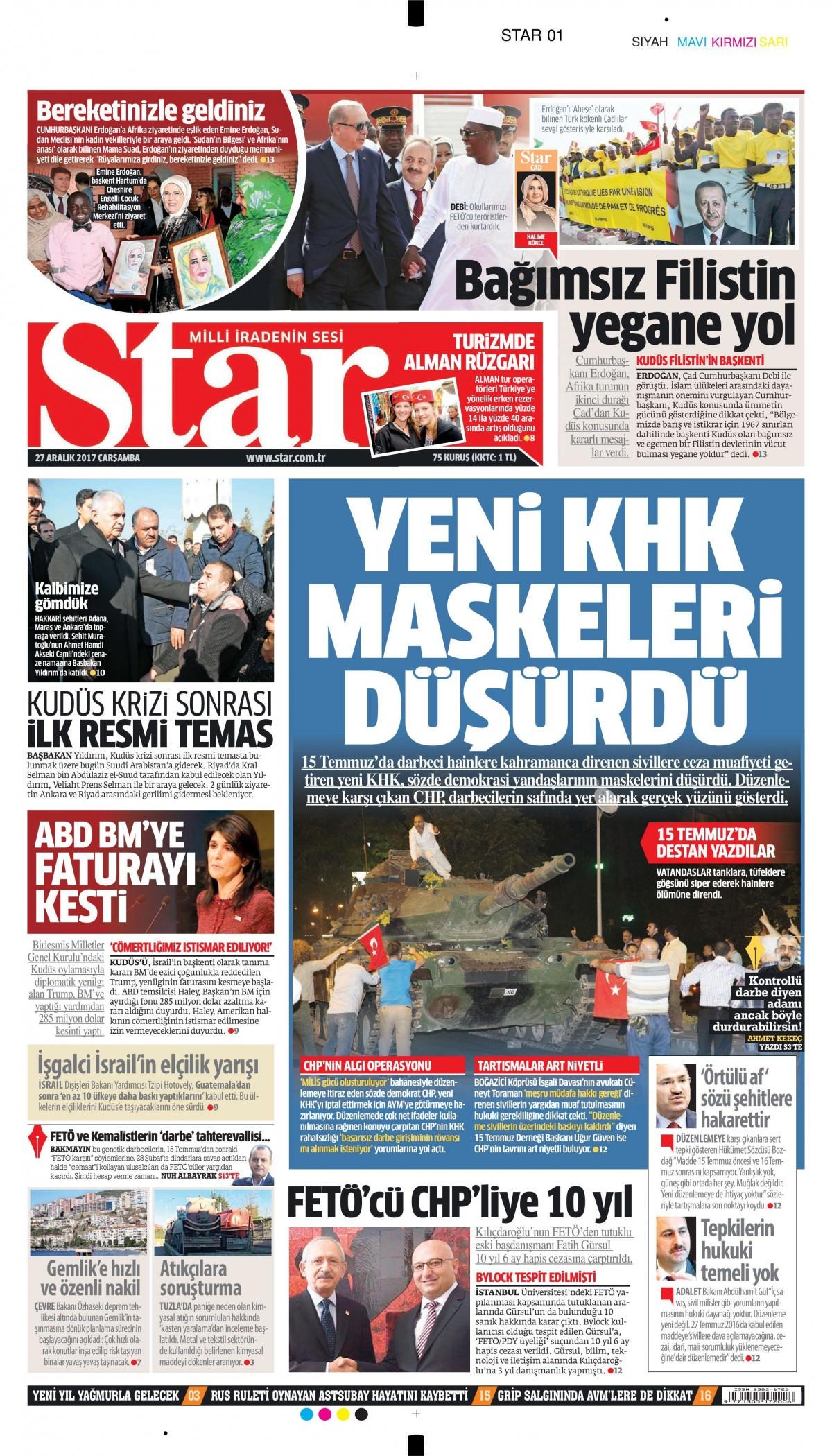 Günün gazete manşetleri 22