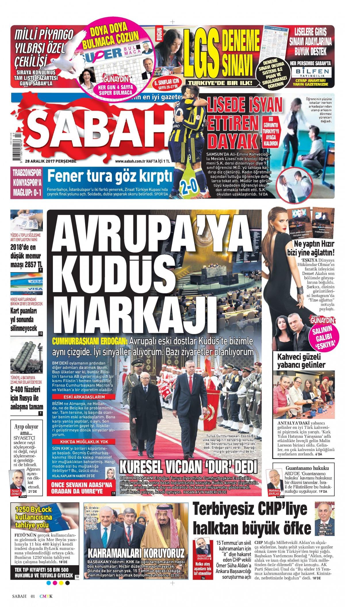 Günün gazete manşetleri 21