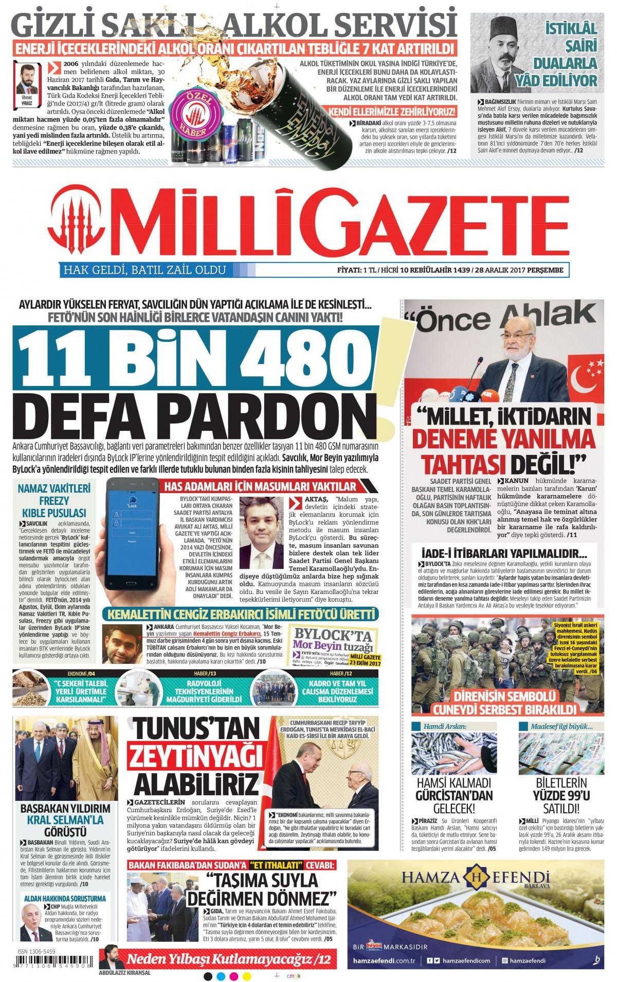Günün gazete manşetleri 8