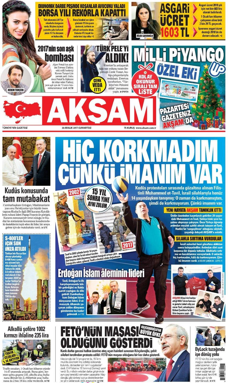 Günün gazete manşetleri 2