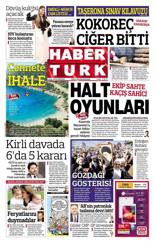 Günün gazete manşetleri 1