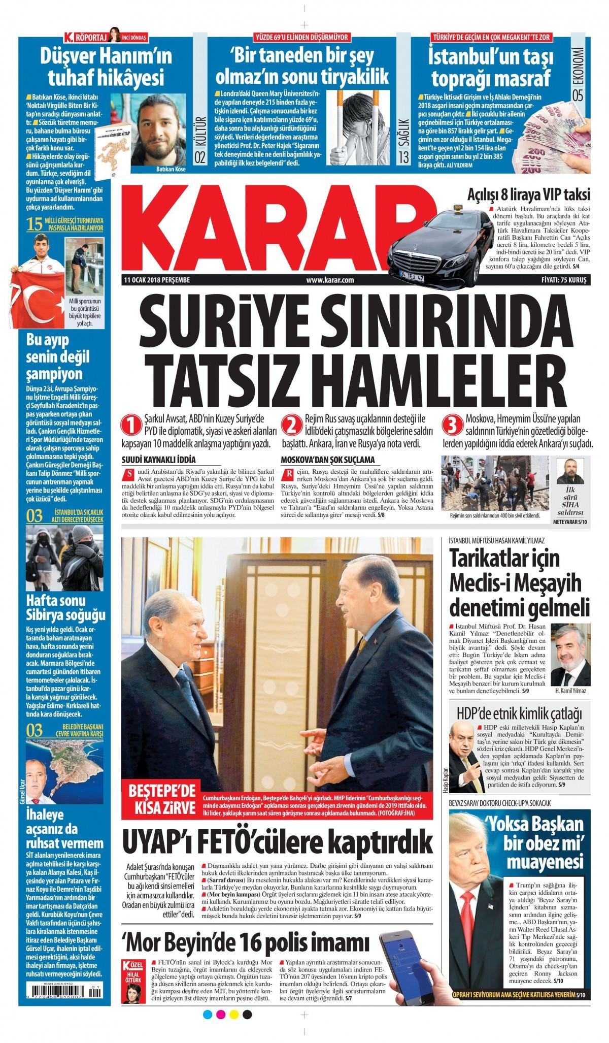 Günün gazete manşetleri! 18