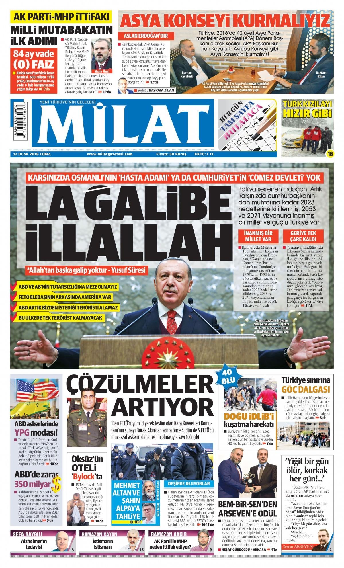 Günün gazete manşetleri 12