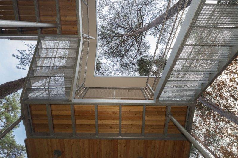 Orman içerisinde modern ve konforlu bir ev 12