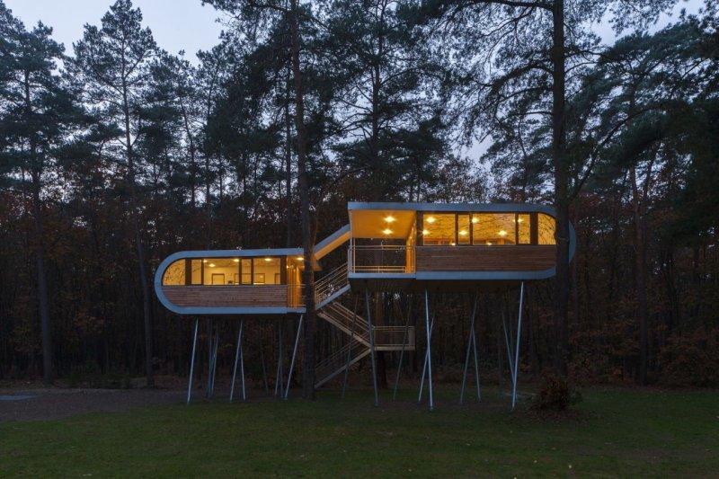 Orman içerisinde modern ve konforlu bir ev 6