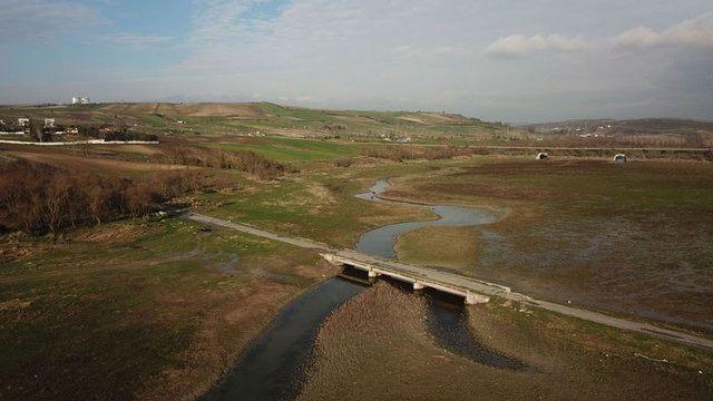 Kanal İstanbul güzergahı havadan görüntülendi 9