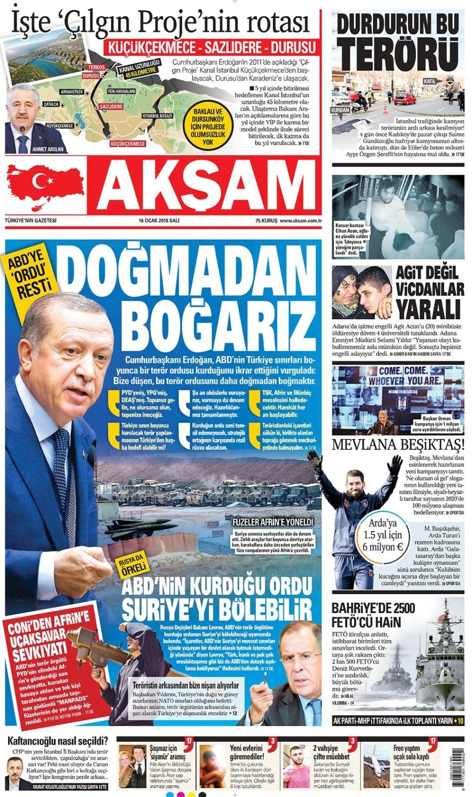 Günün gazete manşetleri 6