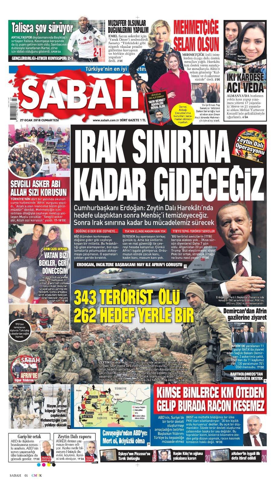 Günün gazete manşetleri 7