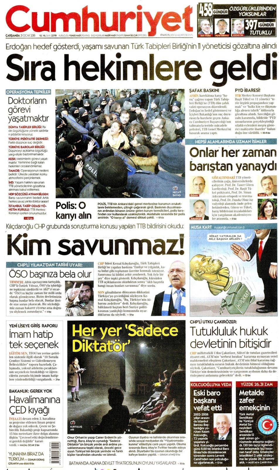 Günün gazete manşetleri 10