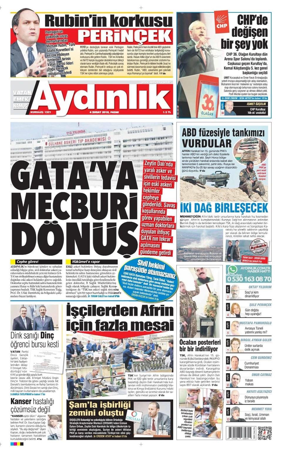 Günün gazete manşetleri 15