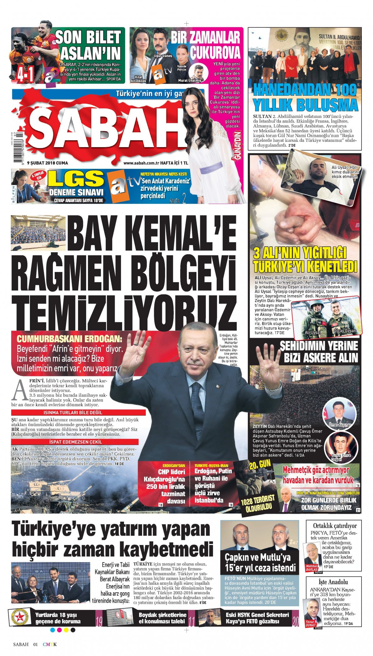Günün gazete manşetleri 19