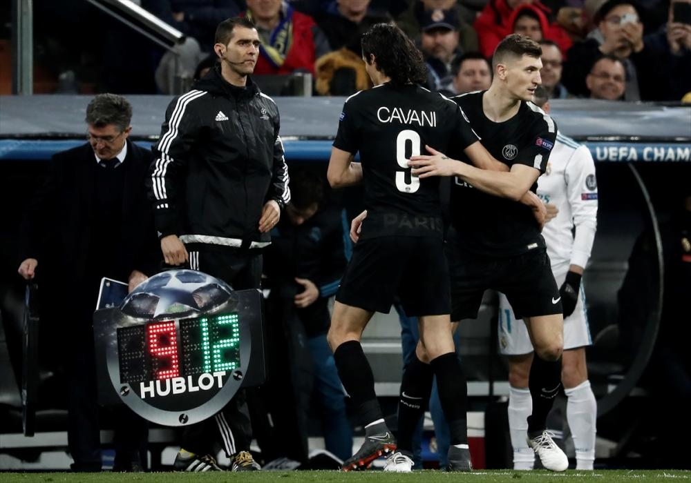 Real Madrid-PSG maçından kareler 1